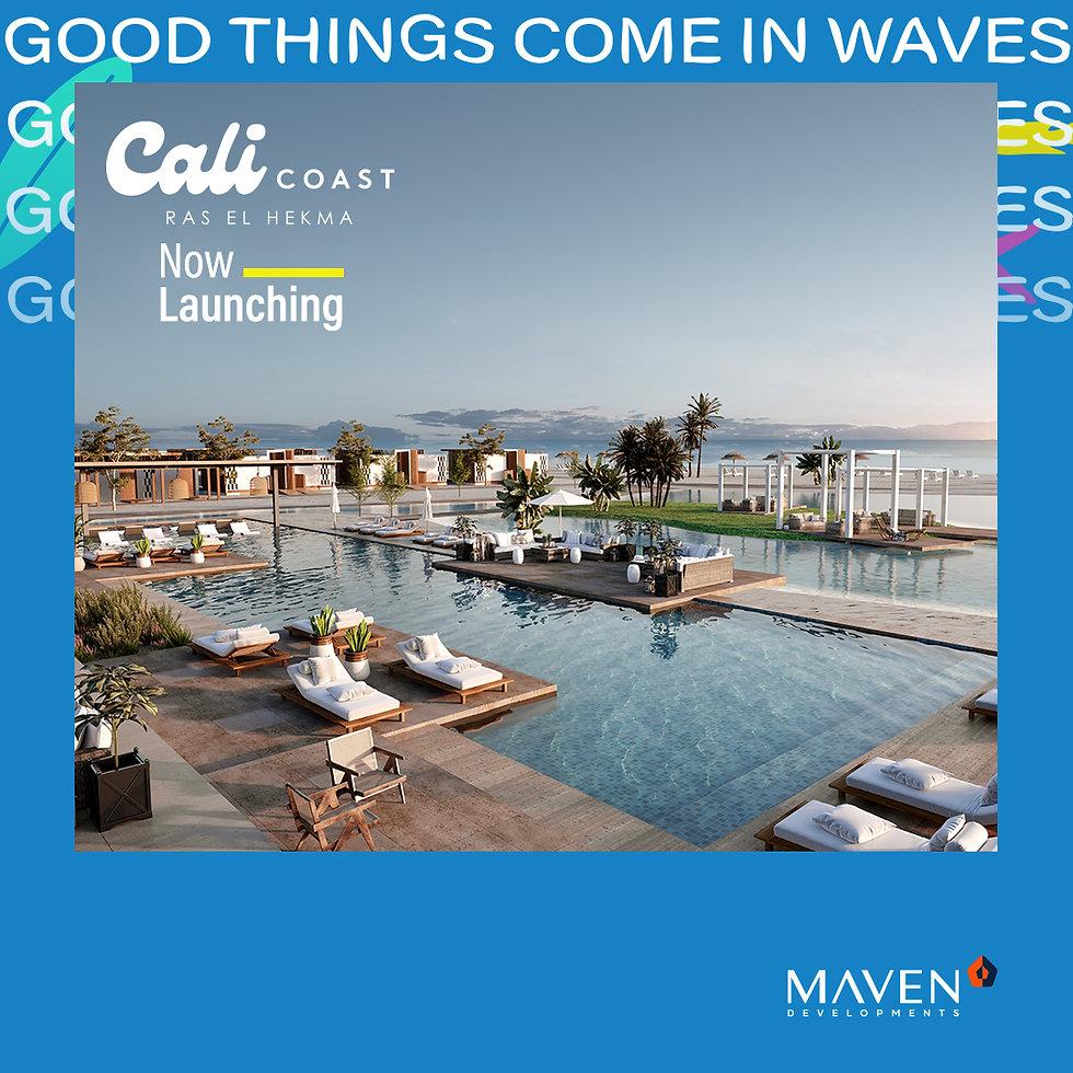 Swimming pools in Cali Coast Ras El Hekma