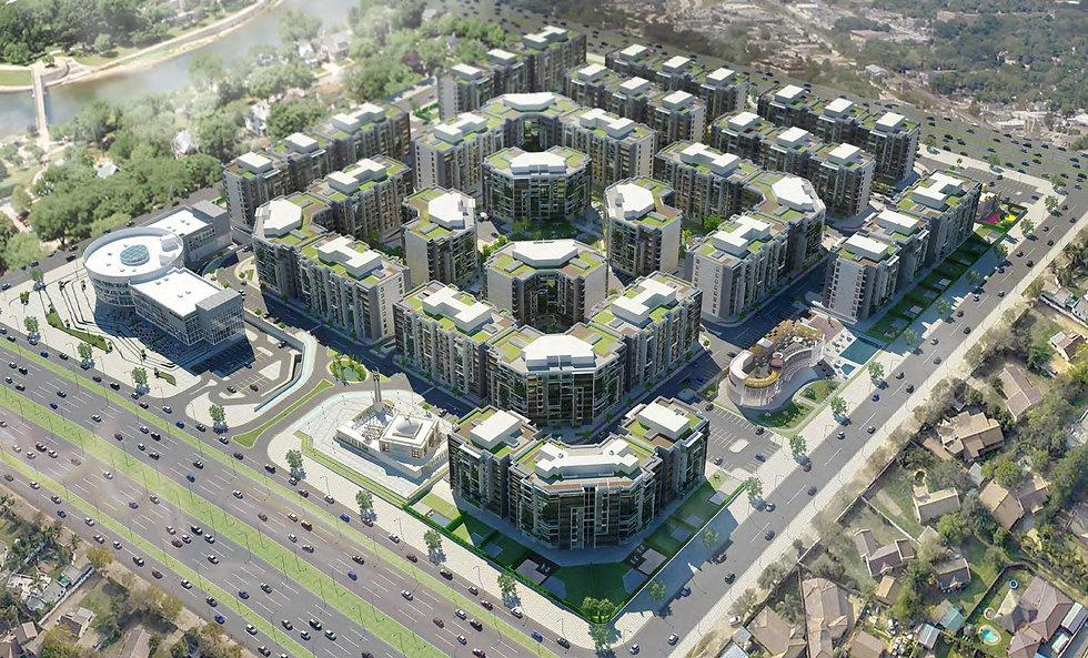 3D Master Plan for Golden Yard