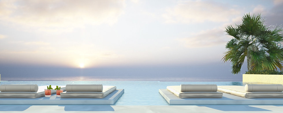 Roof top pool in Bay Condos Sahl Hasheesh
