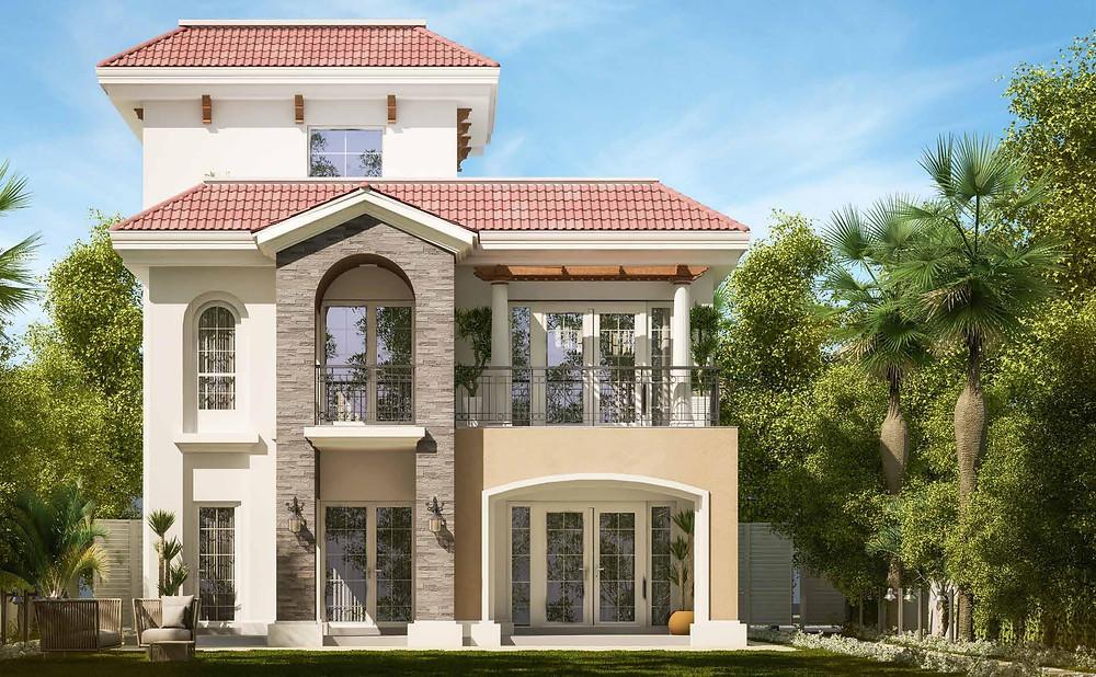 Standalone villa in Almaqsad Mediterranean design