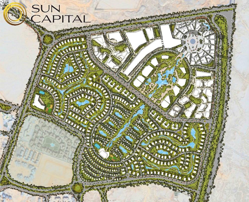 Master Plan of Sun Capital West Cairo Egypt