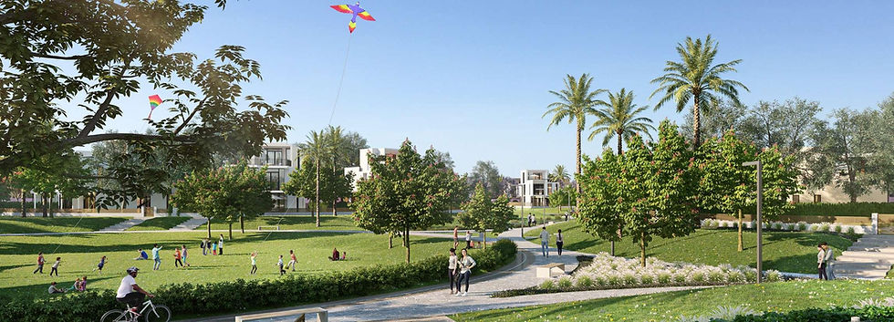 greenery and parks in Cairo Gate