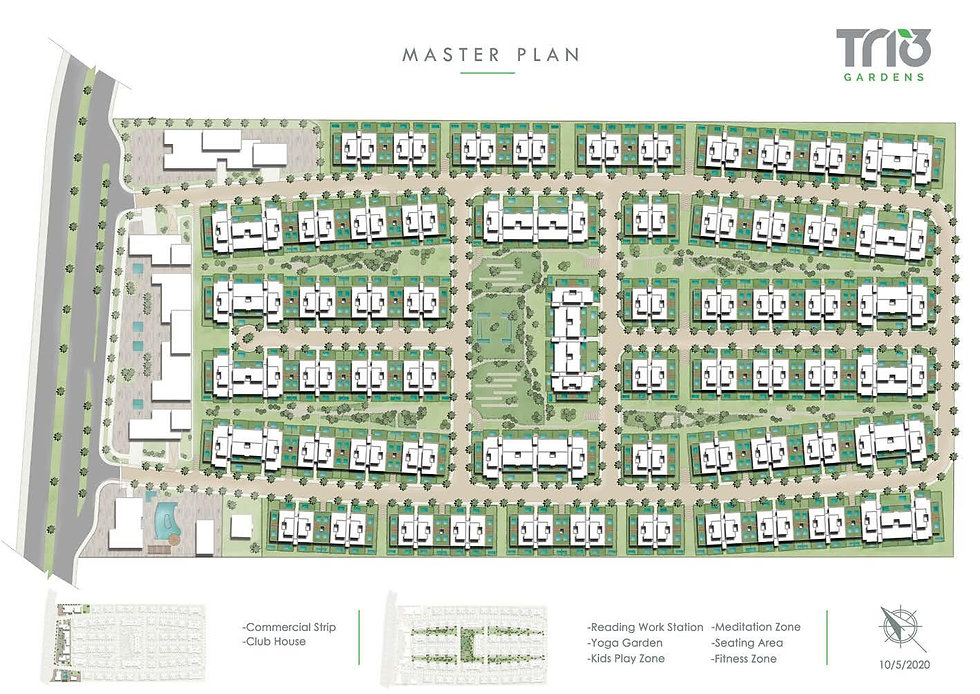Master Plan for Trio Gardens New Cairo