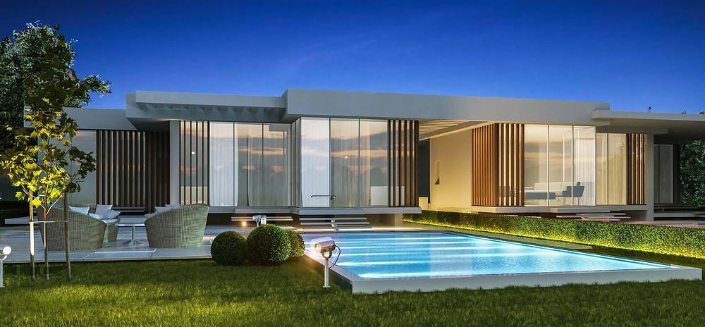 Exterior building designs in Matangi in Oriental Coast