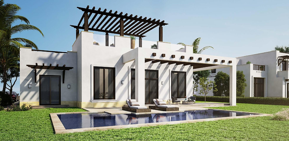Cyan El Gouna Type D Villa 165 sqm external design pool view