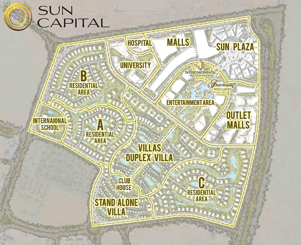 Master Plan of Sun Capital Development West Cairo Egypt