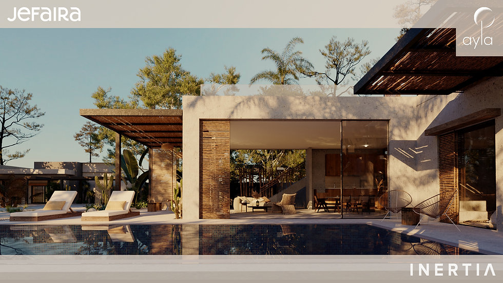 villa with swimming pool in Ayla