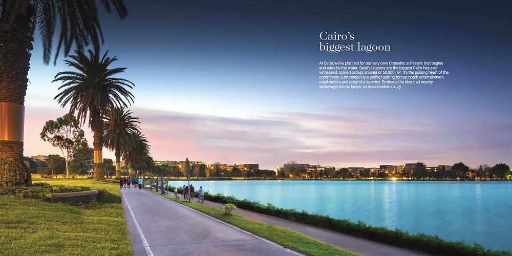 Cairo's biggest lagoon in Sarai New Cairo