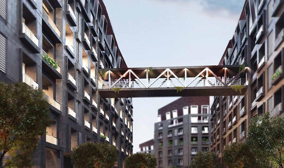 Linking bridges in Park Lane Compound