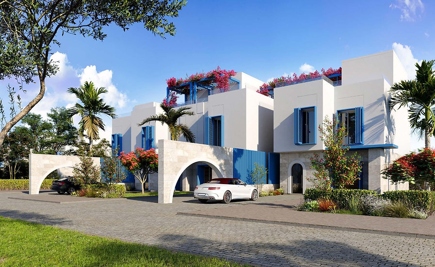 waterfront town houses in Naia Bay