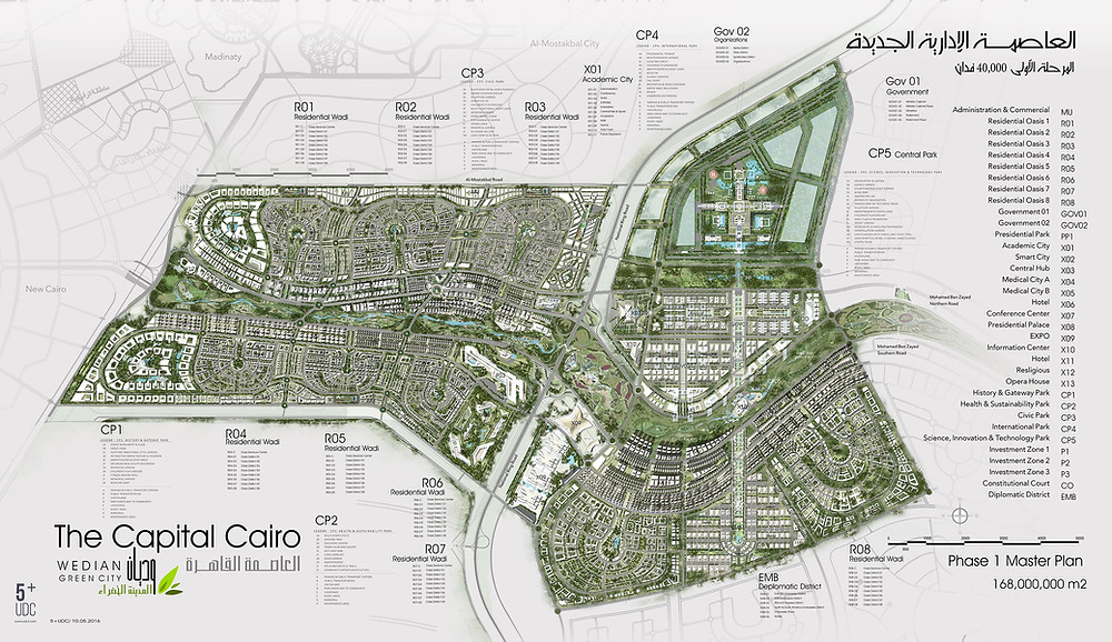 Egypt's new administrative capital master plan