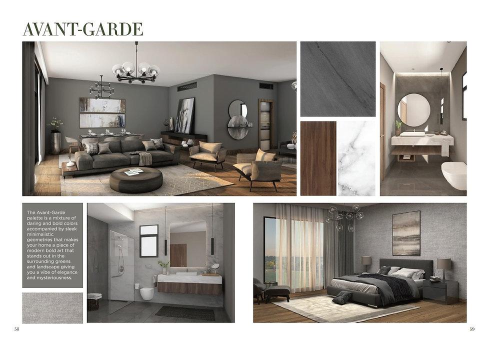 Avant-garde finishing palette for V Residences