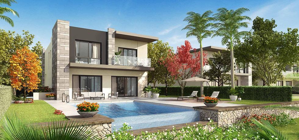 Render for villa type G in The Giselle Swan Lake Residences