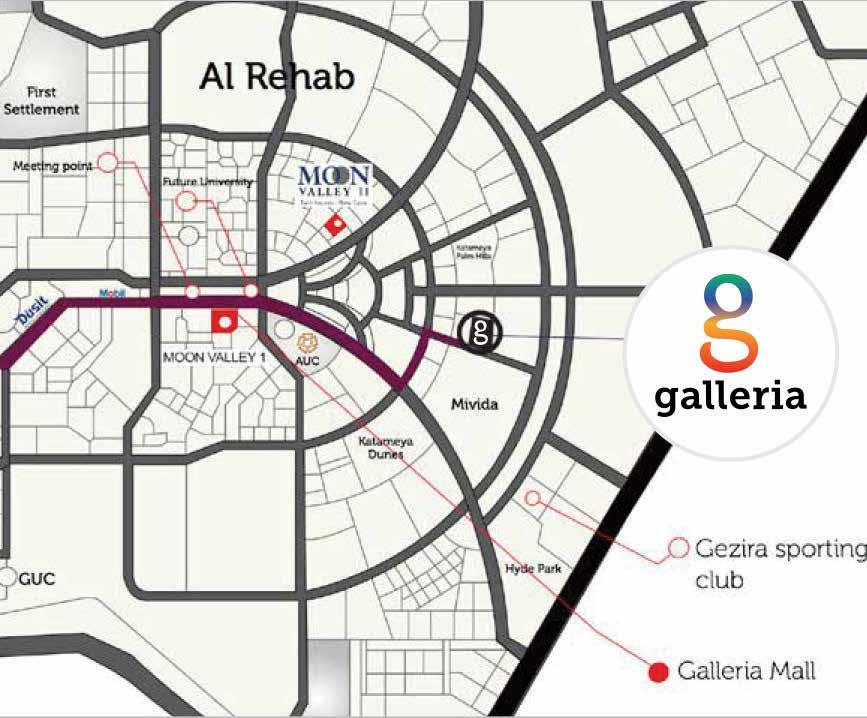 Location of Galleria Residence in New Cairo Golden Square