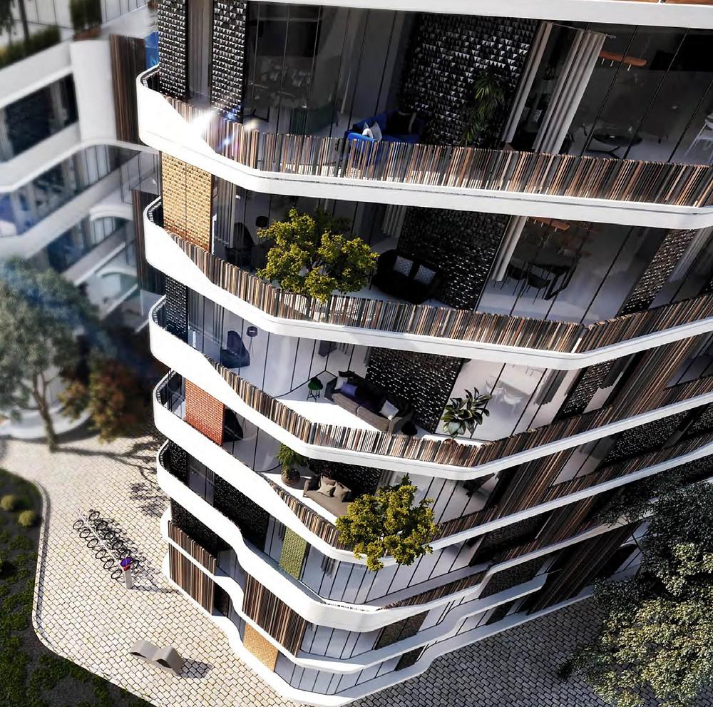 Residential building renders in Bloomfields in Mostakbal City by Tatweer Misr