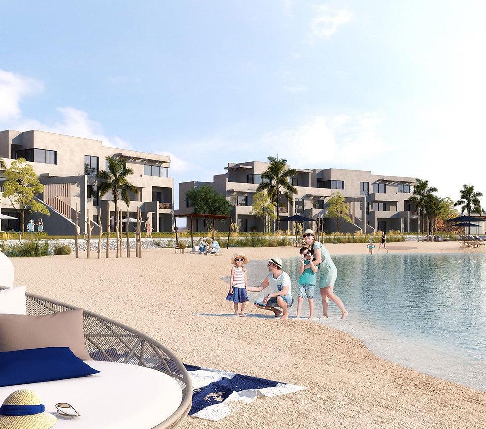 Bayou apartments overlooking lagoon