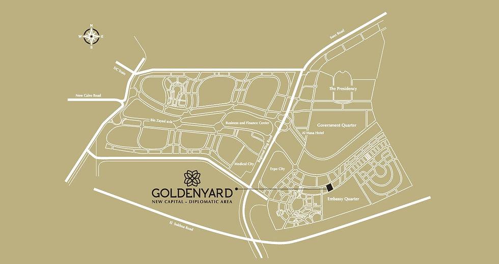 Location of Golden Yard in the New Capital