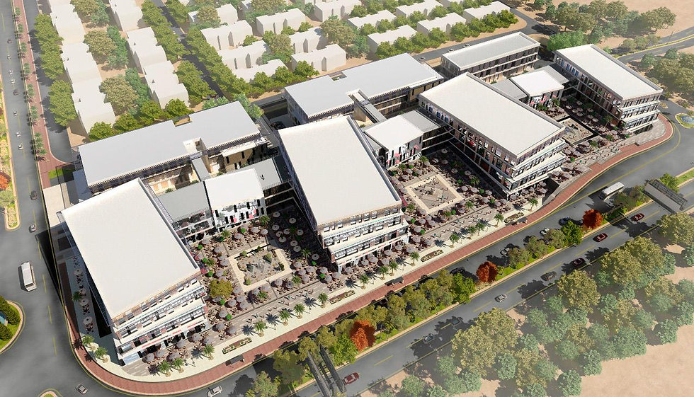 Aerial view of Golf Central Business Complex