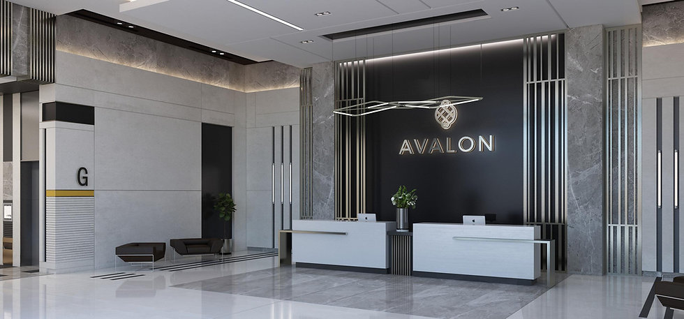 Design of the lobby in Avalon New Capital