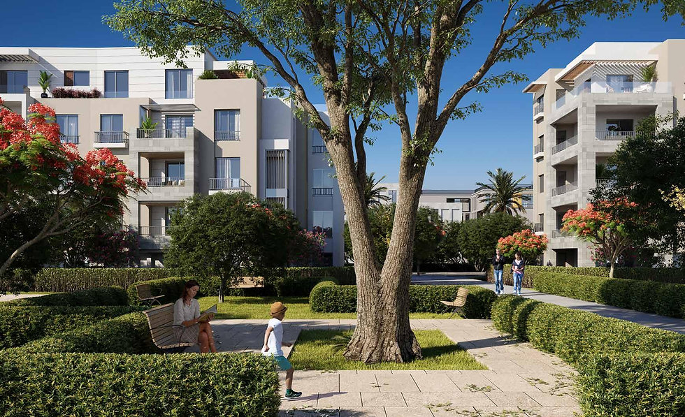 landscape design in Clubside Apartments