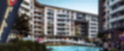 Swimming pool in Tonino Lamborghini Residences in Atika