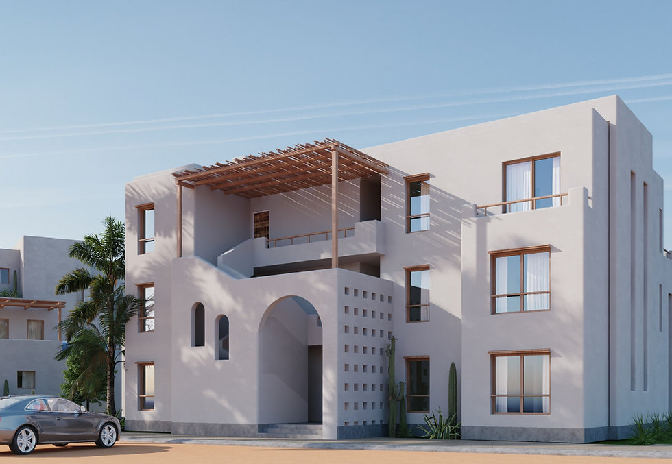 Building architecture in Topia Makadi by Orascom