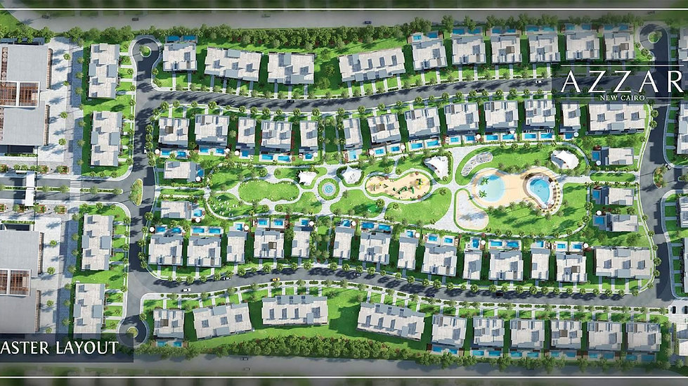 Azzar New Cairo Master Plan Egypt Real Estate Hub