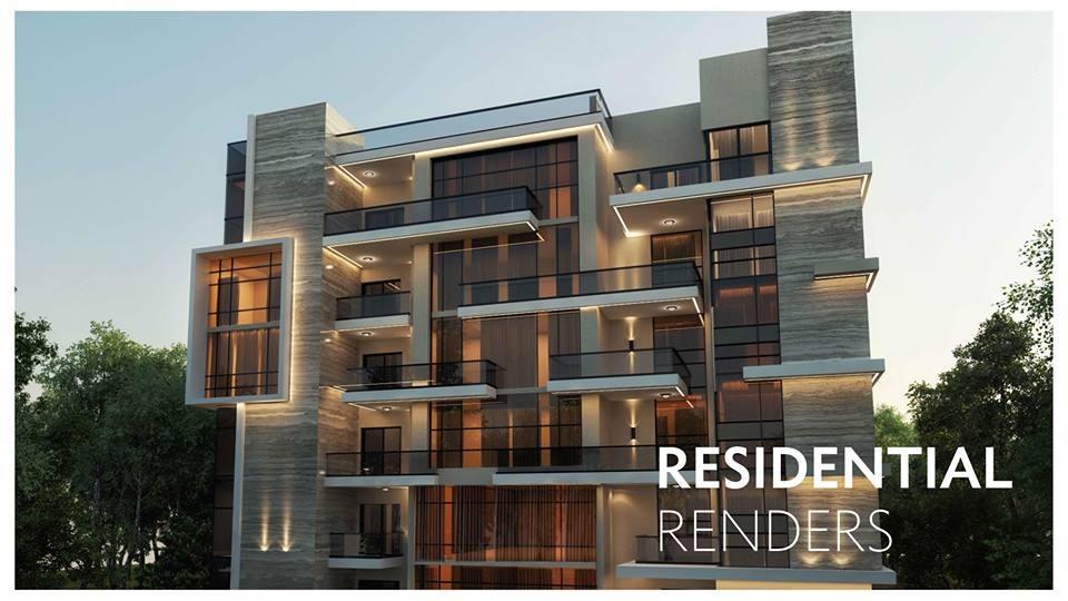Residential renders for Sun Capital Development West Cairo Egypt