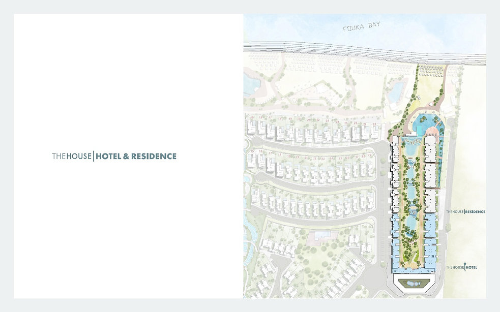 The House Hotel & Residence Master Plan in Fouka Bay