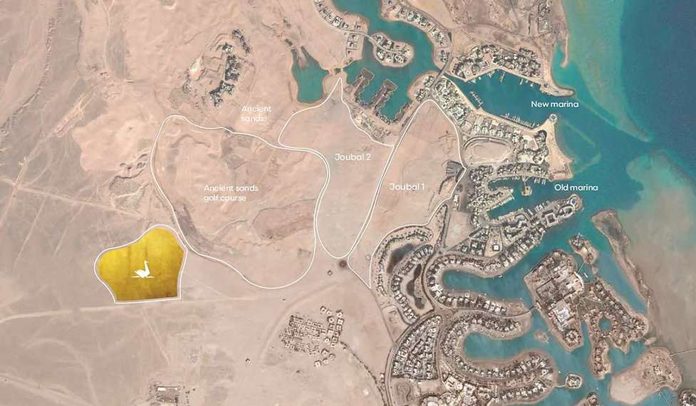 Location of Swan Lake El Gouna by Hassan Allam