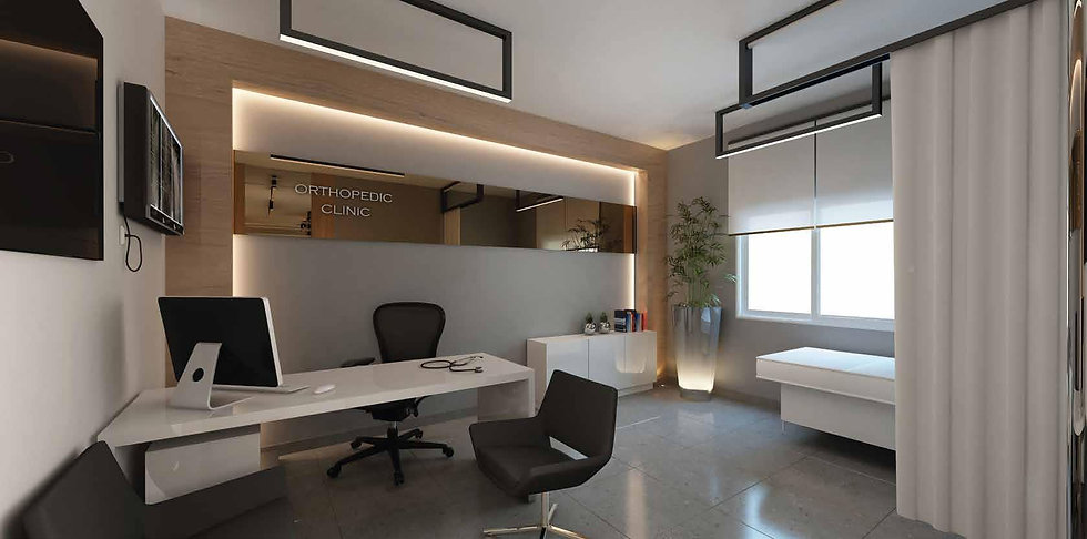 interior design of a clinic in Hale Town by Palm Hills