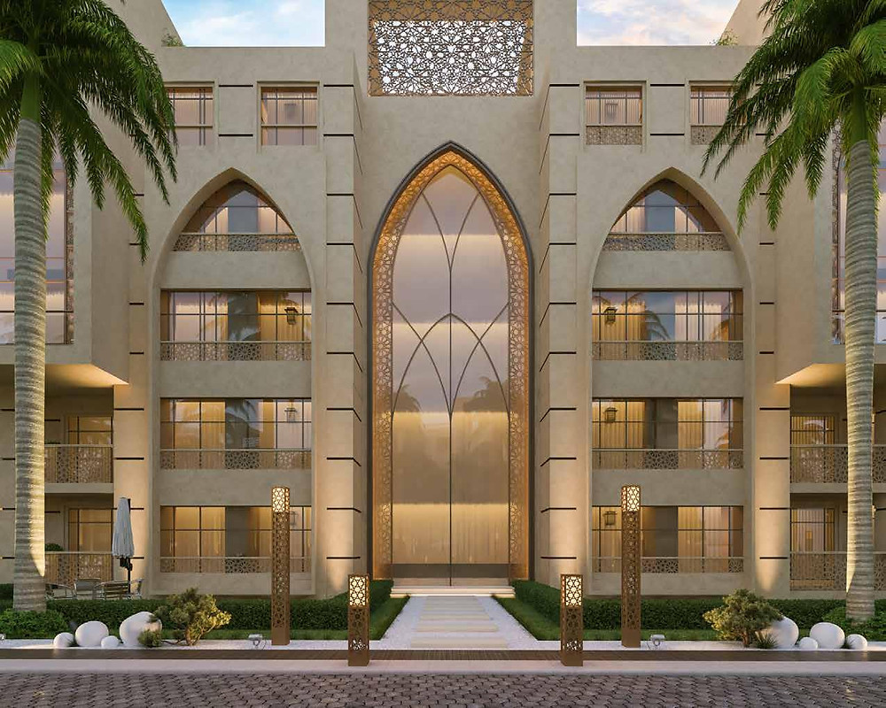 Exterior building design in Azadir New Cairo
