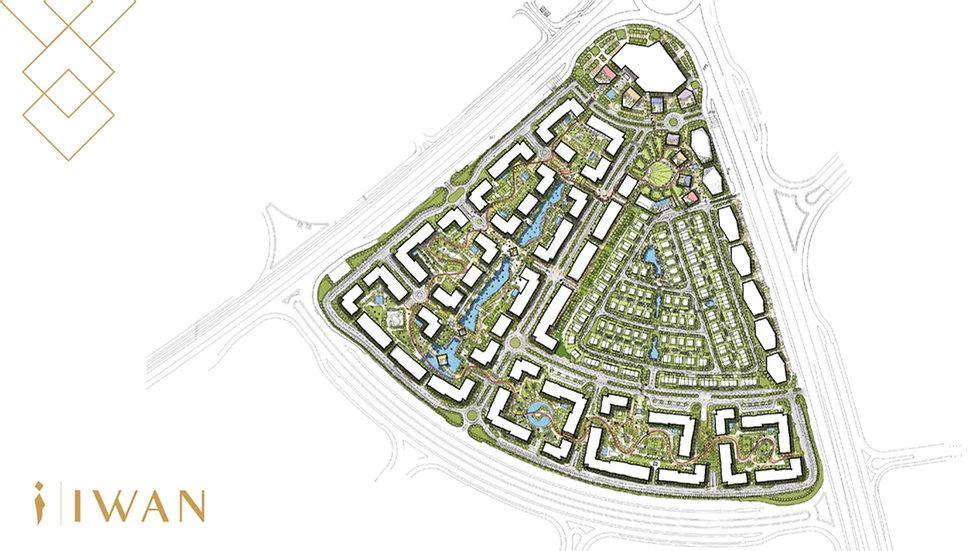master plan fo Jada New Cairo by Iwan Developments