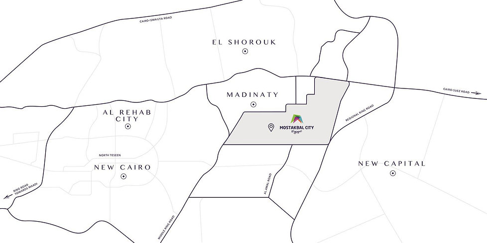 Locaton of Mostakbal City in East Cairo