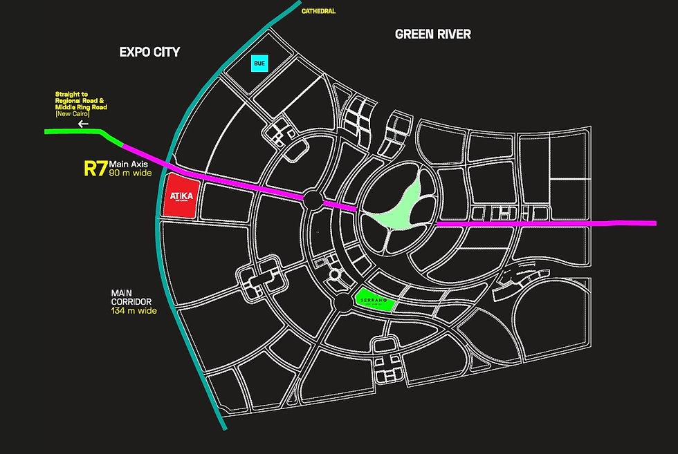 Location of Atika in the New Capital