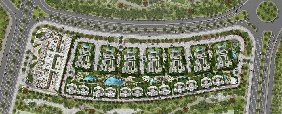 Master plan for Residence Eight New Capital