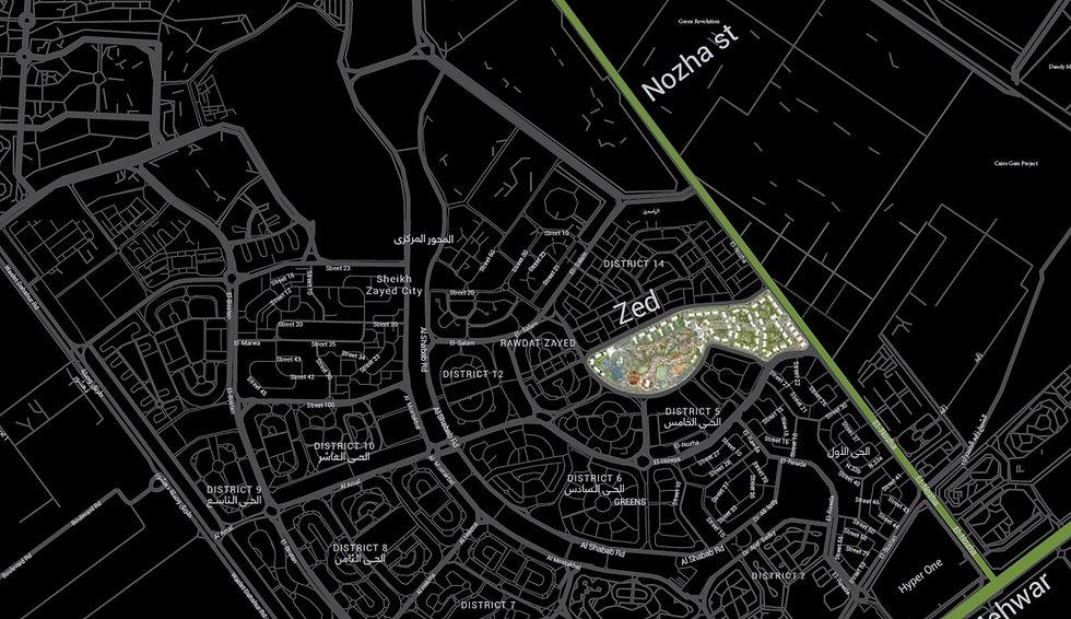 location of Zed Strip in Sheikh Zayed