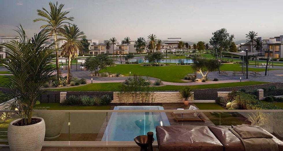 Landscape design in The Estates by SODIC