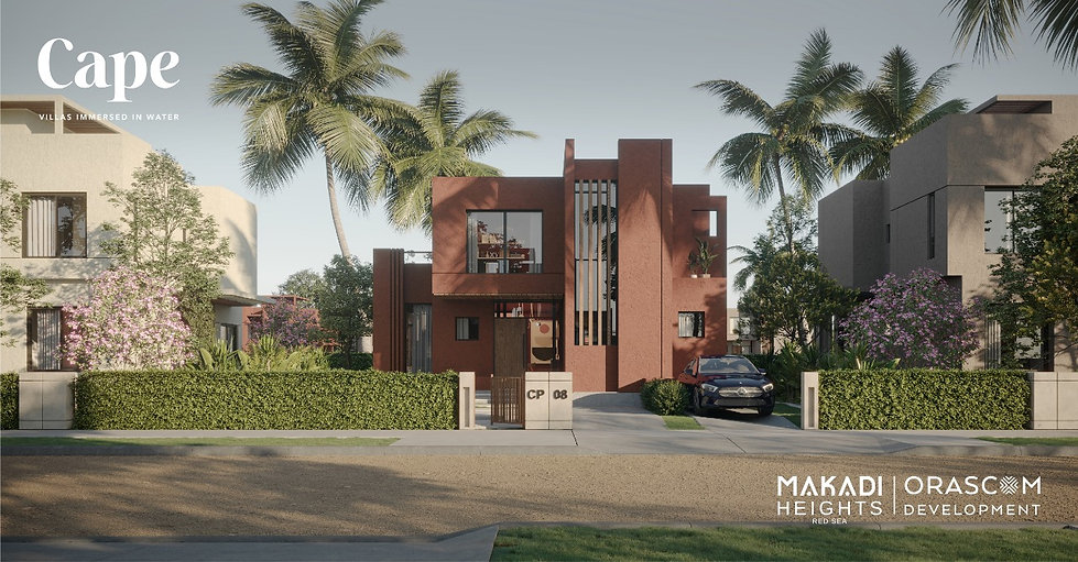 Standalone villa render in Cape Makadi Heights