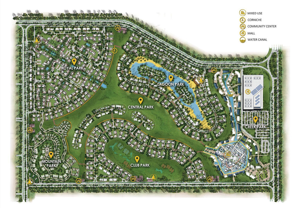 Master Plan for Mountain View iCity New Cairo