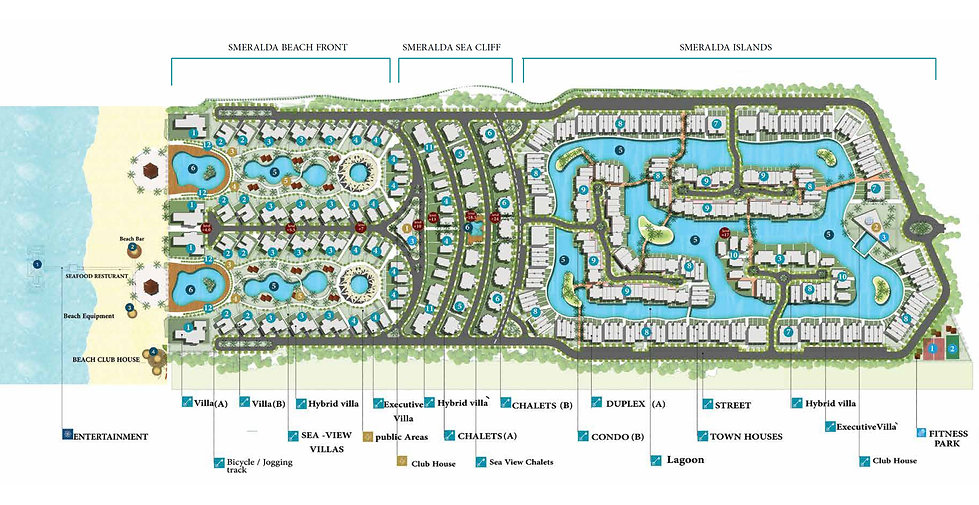 Master plan of Smeralda Bay Sidi Heneish
