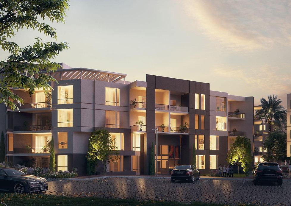 The Axis Apartment Building facades
