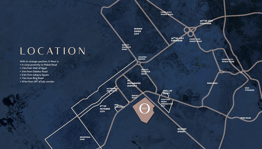 Location of O West in 6 October