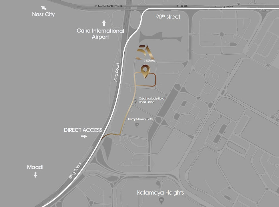 Location of 5A By The Waterway in New Cairo