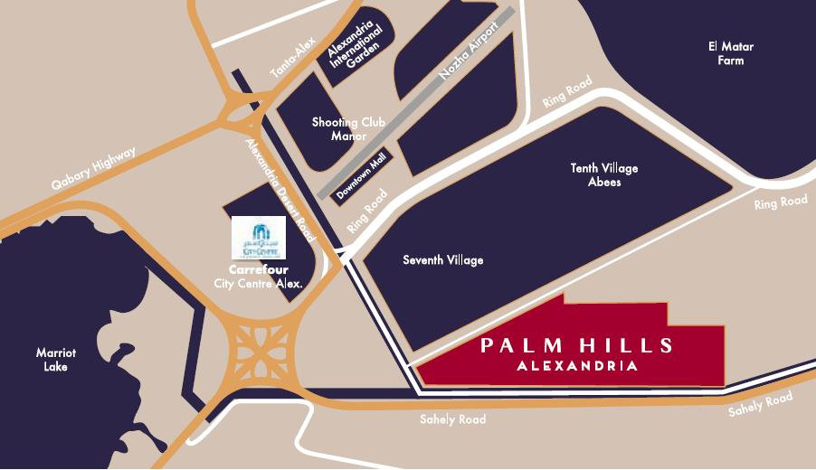location of Palm Hills Alexandria