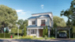 Standalone villa architecture design in Mountain View III