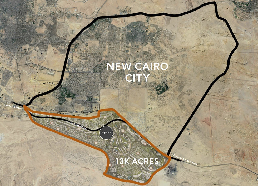 District Five Location in New Cairo
