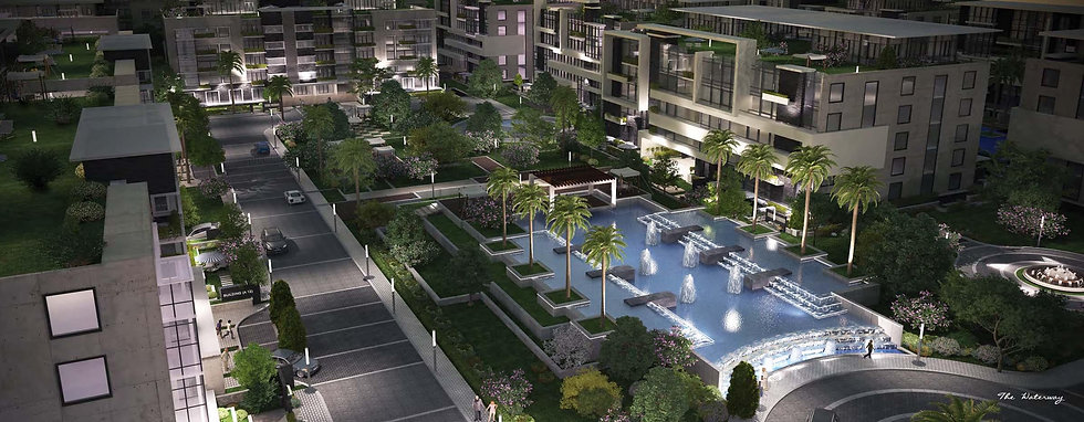 The Waterway New Cairo landscape design