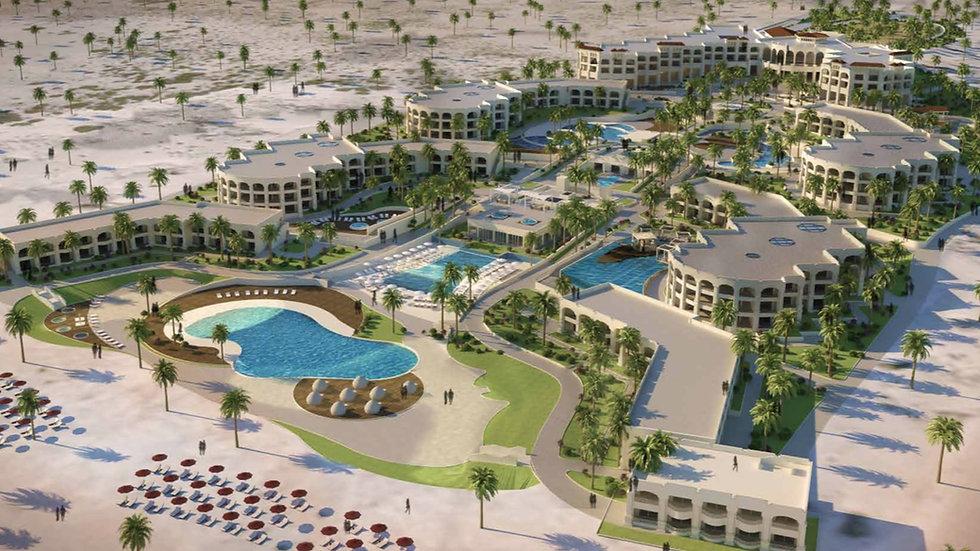 3D master plan of Smeralda Bay Sidi Heneish
