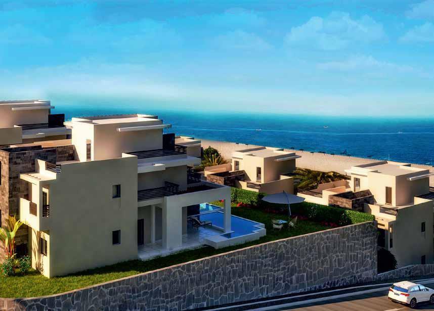architecture of sea view twin villas in Amaros Sahl Hasheesh